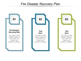Fire Disaster Recovery Plan Ppt Powerpoint Presentation Ideas Infographic Template Cpb