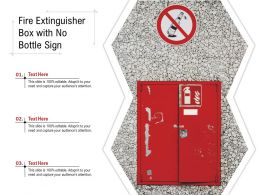 Fire Extinguisher Box With No Bottle Sign
