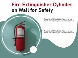 Fire Extinguisher Cylinder On Wall For Safety