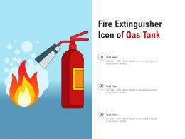 Fire Extinguisher Icon Of Gas Tank