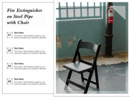 Fire Extinguisher On Steel Pipe With Chair