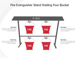 Fire Extinguisher Stand Holding Four Bucket