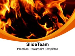 Fire Flames Abstract PowerPoint Templates PPT Themes And Graphics 0213