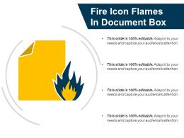 Fire Icon Flames In Document Box
