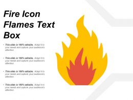 Fire Icon Flames Text Box