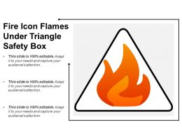 Fire Icon Flames Under Triangle Safety Box