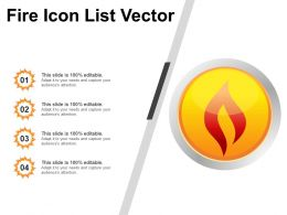 Fire Icon List Vector PPT Images Gallery