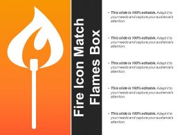 Fire Icon Match Flames Box