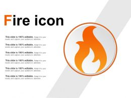Fire Icon Ppt Slide Template