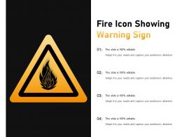 Fire Icon Showing Warning Sign
