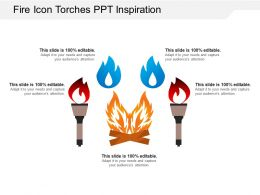 Fire Icon Torches Ppt Inspiration
