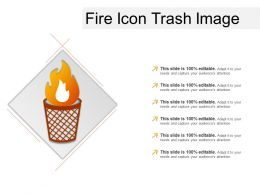Fire Icon Trash Image Ppt Presentation