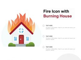Fire Icon With Burning House