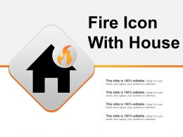 Fire Icon With House Ppt Slide Design
