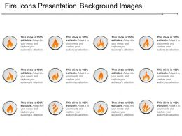 Fire Icons Presentation Background Images