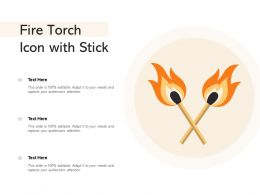 Fire Torch Icon With Stick