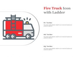 Fire Truck Icon With Ladder