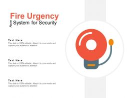 Fire Urgency Alarm System For Security