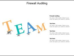 Firewall Auditing Ppt Powerpoint Presentation Ideas Design Ideas Cpb
