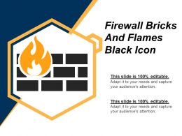 Firewall Bricks And Fames Black Icon