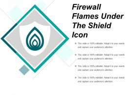 Firewall Flames Under The Shield Icon
