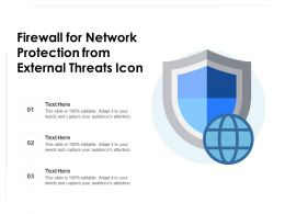 Firewall For Network Protection From External Threats Icon