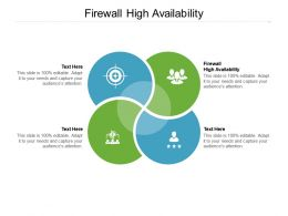 Firewall High Availability Ppt Powerpoint Presentation Summary Graphics Tutorials Cpb