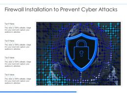 Firewall Installation To Prevent Cyber Attacks