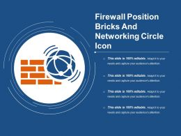 Firewall Position Bricks And Networking Circle Icon