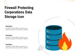 Firewall Protecting Corporations Data Storage Icon