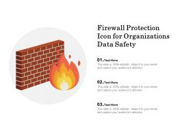 Firewall Protection Icon For Organizations Data Safety