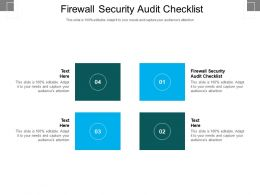 Firewall Security Audit Checklist Ppt Powerpoint Presentation Gallery Designs Cpb