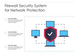 Firewall Security System For Network Protection