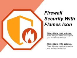 Firewall Security With Flames Icon