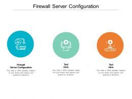 Firewall Server Configuration Ppt Powerpoint Presentation Layouts Design Ideas Cpb