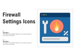 Firewall Settings Icons