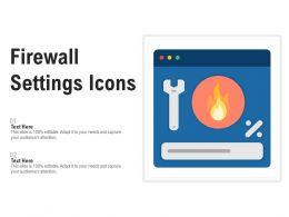 Firewall Settings Icons