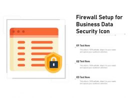 Firewall Setup For Business Data Security Icon
