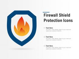 Firewall Shield Protection Icons