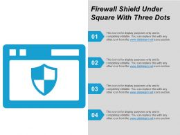 Firewall Shield Under Square With Three Dots