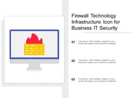 Firewall Technology Infrastructure Icon For Business IT Security