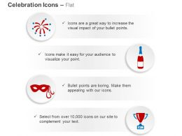 Firework Wine Bottle Mask Trophy Ppt Icons Graphics