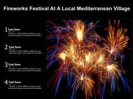 Fireworks Festival At A Local Mediterranean Village