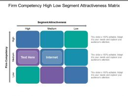Firm Competency High Low Segment Attractiveness Matrix