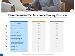 Firm Financial Performance During Distress Business Turnaround Plan Ppt Graphics