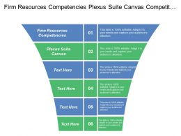 Firm Resources Competencies Plexus Suite Canvas Competitive Intelligence