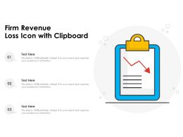 Firm Revenue Loss Icon With Clipboard