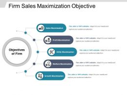 Firm Sales Maximization Objective Example Of Ppt