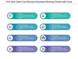 Firm Size Client Cost Structure Business Revenue Drivers With Icons