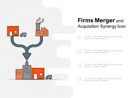 Firms Merger And Acquisition Synergy Icon